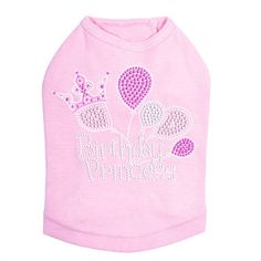 This Birthday Princess Tank is the perfect outfit for your dog to wear on her special day! #yourdogwilldigit