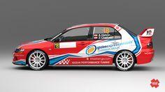 Tony Helou – Ziad Chehab (Mitsubishi Lancer Evo IX) - new desing for Libanon Championship 2013.