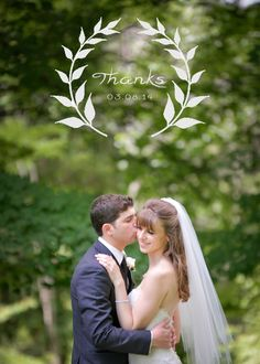 Simple, beautiful wedding thank you card that your guests will love.