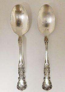 2 Vintage Gorham Sterling Silver 925 Teaspoons Buttercup Pattern 1899