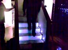 "Automated Sensor-Controlled Stair Lights Make Sleepwalking More Safe......or you can pretend you're in the""Billie Jean"" video...haha"