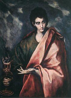 "El Greco: ""St. John the Evangelist"",1604. (Museo del Prado,Madrid,Spain.) https://www.museodelprado.es/en/"