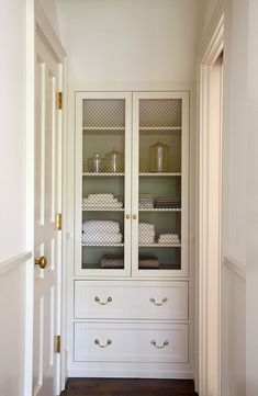 Linen Closet In Bathroom Cabinet Hallway Built