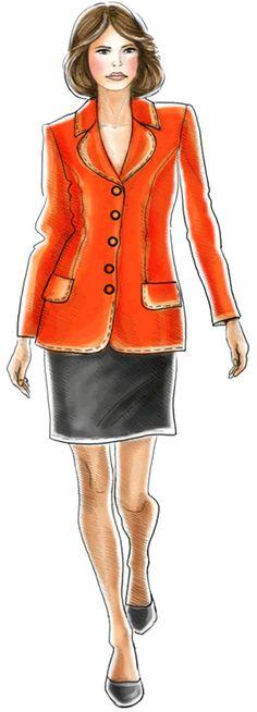 free pattern S-XL Jacket