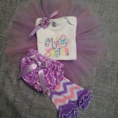 My First Easter Tutu Outfit with legwarmers by OhBabyBowTique9