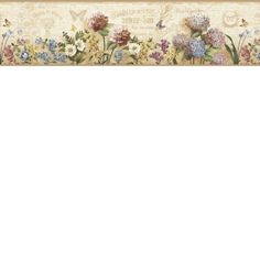Brewster Home Fashions Borders by Chesapeake Poste Springtime Trail x Floral Embossed Border Wallpaper Coastal Wallpaper, Go Wallpaper, Wallpaper Online, Wallpaper Borders, Wall Borders, Victorian Kitchen Wallpaper, Drag, Borders For Paper, Design Poster