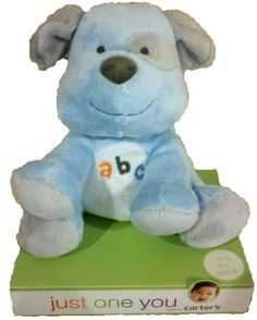 Plush Blue Puppy Sings ABC's Just One You by Carter's by Carter's. $29.99. Adorable blue puppy, Just One You, by Carter's, sings the ABC's!