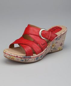 Take a look at this Amore Floral Rae Wedge Slide by b.o.c by Born on #zulily today!