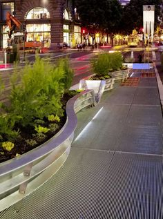 如此极致的景观,不得不服 Powell Street, Pocket Park, Landscape And Urbanism, Urban Park, Green Belt, Urban Furniture, Private Garden, Backyard Patio, Urban Design