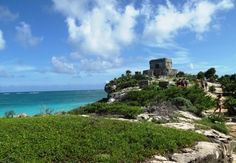 Tulum ruins, in Playa del Carmen, Mexico (Mexico as a country isn't really on the list, but Playa del Carmen is)