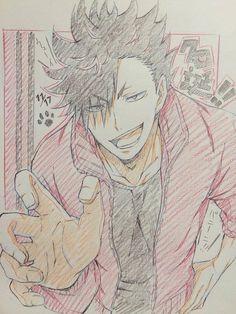 #Dessin #Haikyu Tetsurō Kuroo capitaine de l'équipe volley Nekoma par kirsche10_6 crayons de couleurs http://ift.tt/1nDN67v #CrayonDeCouleurs