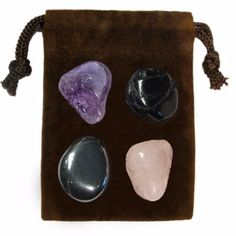 The GRIEF Energy Set is a powerful set of four genuine gemstones specially chosen for their individual energies and properties that when used together bring enlightenment, and empowerment to body, min Crystal Uses, Crystal Healing Stones, Stones And Crystals, Gem Stones, Buy Gemstones, Minerals And Gemstones, Meditation Stones, Chakra Crystals, Mineral Stone