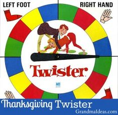 Play Thanksgiving Twister with your family after your Thanksgiving dinner. Free printable.