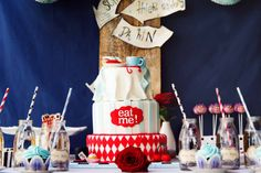Alice in Wondeland themed Sweet Table