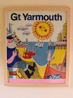 60s/70s Great Yarmouth Poster. Where I spent most of my childhood holidays. happy memories.