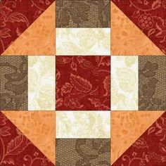 Grecian Square Quilt Block Pattern