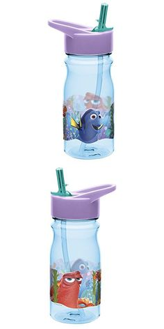 Water Bottle with Straw, Dory Water Bottle With Straw, Water Bottles, Finding Dory, Design