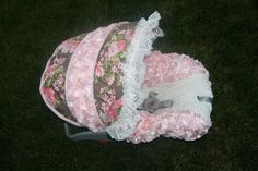 Shabby Chic Infant car seat Cover with beautiful by BABYCOVERS2010, $95.00