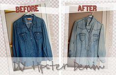 "DIY ""hipster"" #denim #shirt faded"