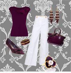 """Wine & White"" by mkimlin on Polyvore"