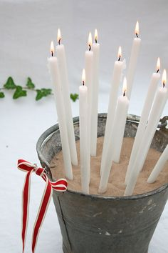 Christmas Pencil Candles-The-Relaxed-Home