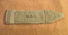 WWII US SHOULDER PADS AIRBORNE PACKBOARD  M1 Garand Sling Pad 1945 Dated