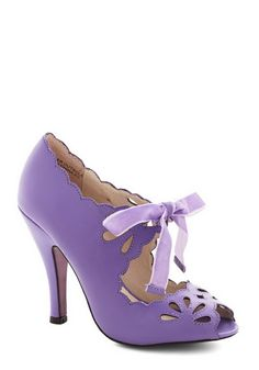 Lavender high heels