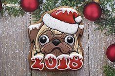 www.sladkieradosti.com #пряники #2018 #год #новый #подарок #Christmas #dog #собака #gingerbread #rooster #gingerbread #New #Year #puppy #годсобаки #Year #symbol #подарок #pug #gift #на #елка #имбирное #souvenir #щенок #сувенир #имбирныйпряник #yearofthedog #NewYear