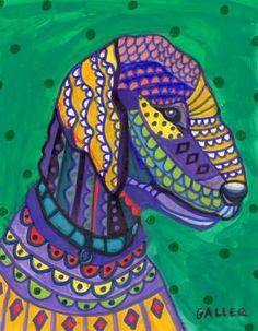 11x14 Bedlington Terrier Dog Art Poster Print by HeatherGallerArt, $24.00