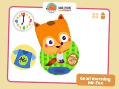 What's the Time Mr.Fox - Helping toddlers and preschoolers learn concepts of time telling and daily routine. A fun, educational, interactive time-based game - 10 animated mini-scenes teaching the basics of time telling (full hours). Appysmarts score: 86/100 http://www.appysmarts.com/application/what-s-the-time-mr-fox-helping-toddlers-and-preschoolers-learn-concepts-of-time-telling-and-daily-routine-a-fun-educational-interactive-time-based-game-from-mr-fox-and-friends,id_102098.php