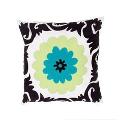 Pop nomad - Contemporary - 18 inch Pillow - Set of 2 -JAR-PLSQ825526-0003. Pop nomad - Contemporary - 18 inch Pillow - Set of 2 -JAR-PLSQ825526-0003 A fun , funky collection of pillows in 100% cotton, taking inspiration from suzani patterns which have been rescaled and updated .Colors mix black and .. . See More Decorative Pillows at http://www.ourgreatshop.com/Decorative-Pillows-C685.aspx
