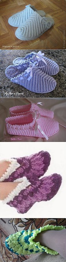 Spanking for grandma. Crochet Boots, Crochet Baby Booties, Crochet Clothes, Crochet Crafts, Easy Crochet, Crochet Projects, Knitting Patterns, Crochet Patterns, Crochet Slipper Pattern