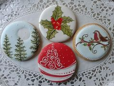 fancy decorated christmas cookies - Google Search