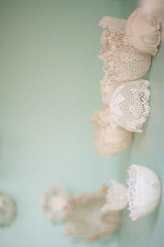 DIY lace dome backdrop