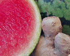 Watermelon Spice This juice is so refreshing with an added kick…    Ingredients for Watermelon Spice  Ingredients  1/2 a watermelon a chunk of ginger – depending on taste