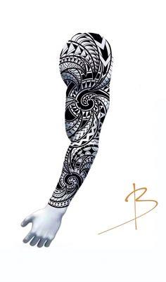Tribal Art Tattoos, Tribal Band Tattoo, Tribal Sleeve Tattoos, Line Art Tattoos, Wolf Tattoo Forearm, Maori Tattoo Arm, Maori Tattoo Designs, Tattoo Sleeve Designs, Polynesian Tattoo Meanings