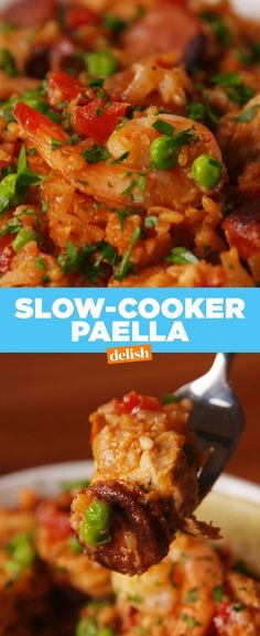 Slow-Cooker Paella - Delish.com