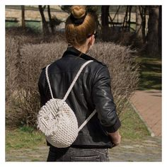 Boho macrame crochet backpack  #macrame #boho #backpack #fringe #tassel #ruffle #festival #vagabond #hippie #summer #style