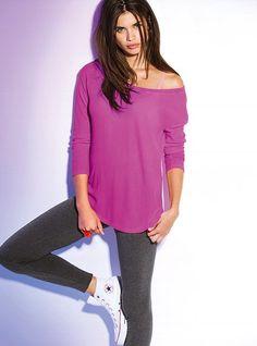 Long-sleeve Thermal Tee - Victoria's Secret PINK - Victoria's Secret