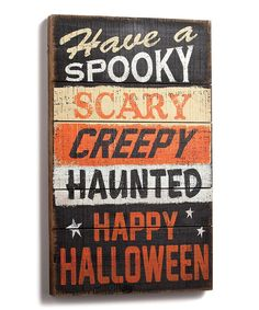 Look what I found on #zulily! Have a Spooky Halloween Wall Art by DEMDACO #zulilyfinds