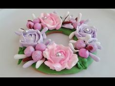 Flower Wreath Cookies Tutorial - YouTube