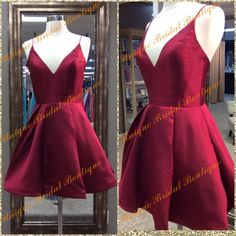 2k16 Simple But Elegant Stunning New Homecoming Dresses With Deep V Neck And Straps Real Photos Draped Dark Red Satin Short Party Gowns Short White Homecoming Dress Amazing Homecoming Dresses From Uniquebridalboutique, $85.43| Dhgate.Com
