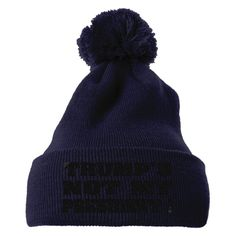 Trumps Not My President Embroidered Knit Pom Cap