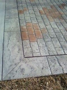 Stamped Concrete, Patio Ideas, Tile Floor, Flooring, Texture, Tile Flooring, Hardwood Floor, Paving Stones, Floor