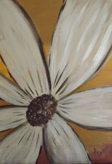 Paint a Gilded Flower in Acrylics Painting Workshop, Tombow, Simple Flowers, Pearl White, Acrylics, Art Lessons, Arts And Crafts, Pretty, Blog