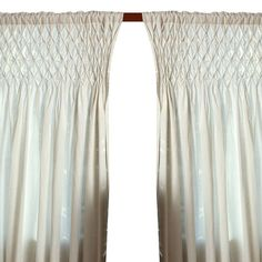 Cotton curtain panel with diamond-style gathering.  Product: Curtain panelConstruction Material: 100% CottonColor: Champagne Cleaning and Care: Machine wash cold on gentle cycle. Do not bleach. Tumble dry low. Warm iron as needed.Note: Image depicts two curtain panels, price is for one.