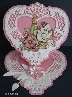 Voorbeeldkaart - R15-078 Getrouwd - Categorie: Stansapparaten - Hobbyjournaal uw hobby website