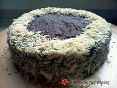 Αμερικάνικη Τούρτα Σοκολάτας (Dark Chocolate Cake) #sintagespareas