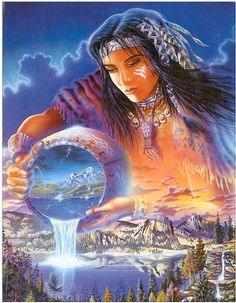 Godchecker guide to Ataentsic (also known as Ataensic), the Wyandot Goddess of the Sky from Native American mythology. Iroquois Sky Goddess and mother of the Wind Breath Twins Native American Paintings, Native American Wisdom, Native American Pictures, Native American Beauty, Indian Pictures, American Indian Art, American Indians, American Spirit, Pictures Images