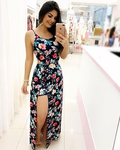 Casual Dresses, Casual Outfits, Fashion Dresses, Cute Outfits, Mexico Beach Outfits, Look Fashion, Girl Fashion, Types Of Dresses, Spaghetti Strap Dresses